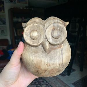 wooden owl decor💗